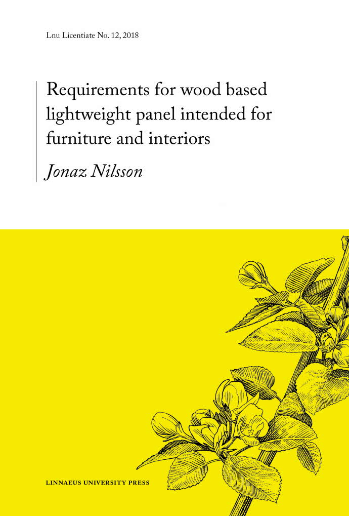 Requirements for wood-based lightweight panels intended for furniture and interior use, av Jonaz Nilsson