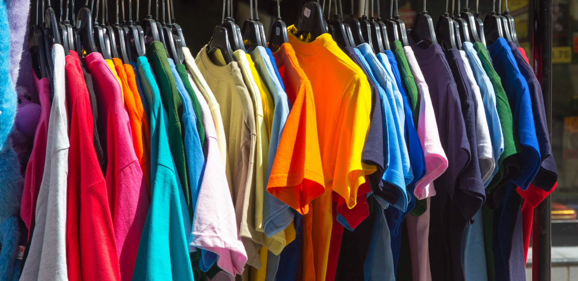 Rainbow coloured shirts