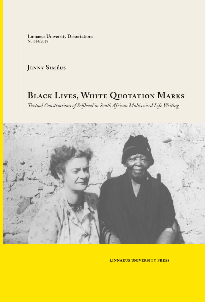 Black Lives, White Quotation Marks, by Jenny Siméus