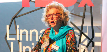 Gunilla Bradley at TedX at Linnaeus University