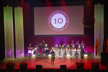 Linnaeus University big band, featuring Carin Lundin