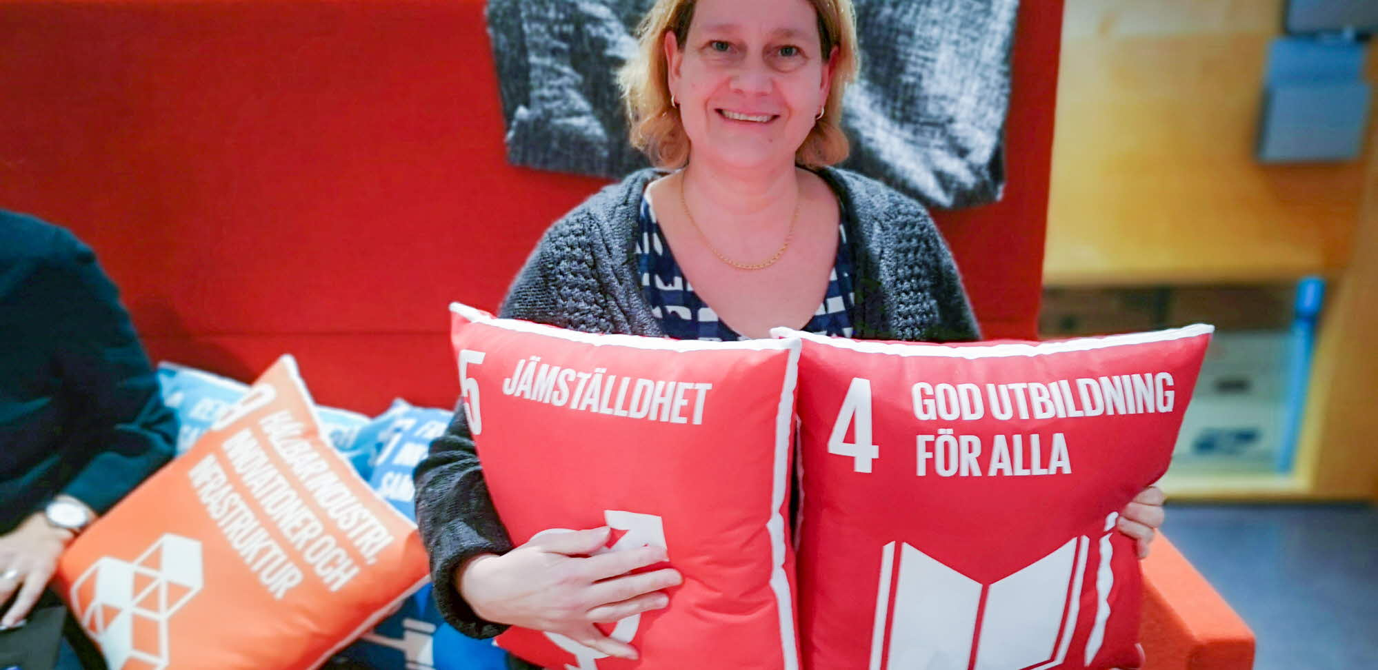 cushions with equality messages