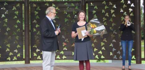 Elin Lindehoff receives environmental award