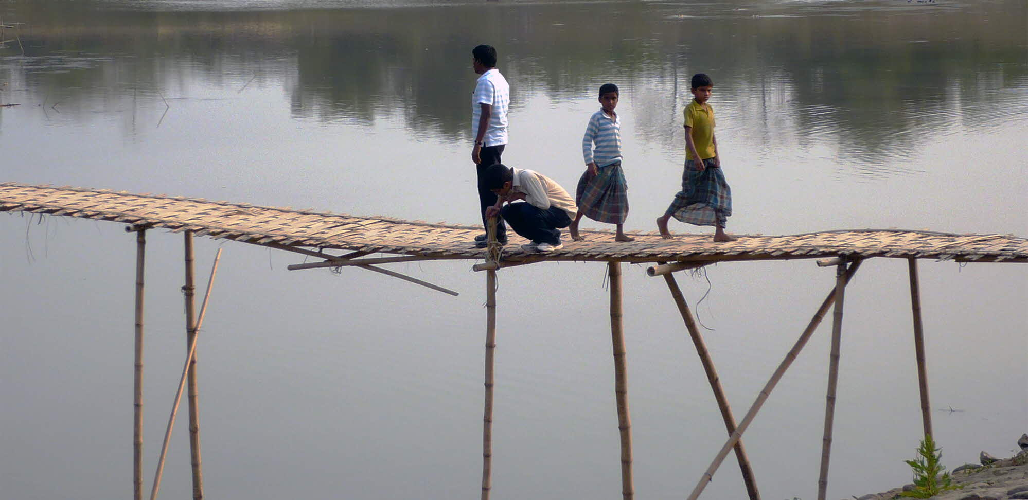 Barak bridge, four people at bridge