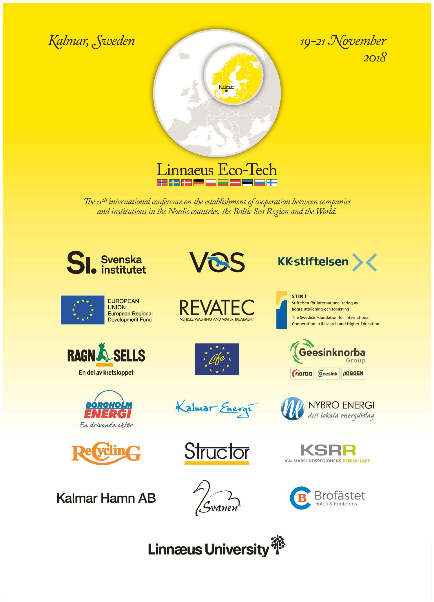 Sponsors of Linnaeus Eco-Tech 2018